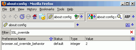 FIX SSL config in FireFox