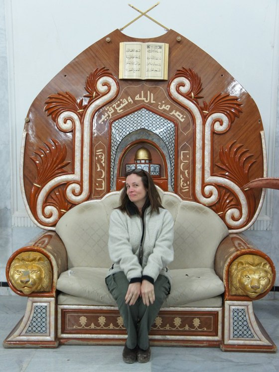 carolyn on saddams throne.jpg