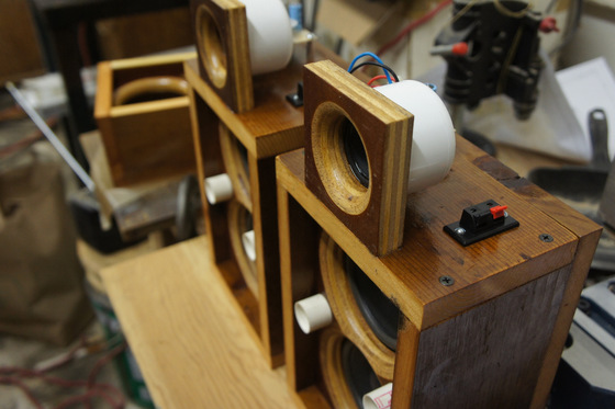 Finished speakers